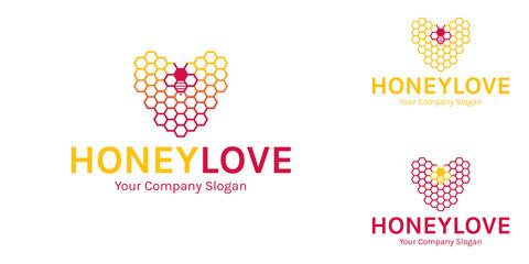 Honey Love Logo Template