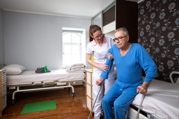 Helping to immobility at nursing home