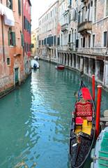 Venice Italy the water way with gondola
