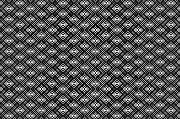 Abstract line arrows - black and white - vector pattern