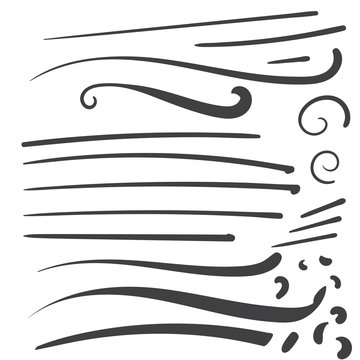 Hand Drawn Black squiggle swoosh text font tail for baseball tshirt design w a calligraphy swirl