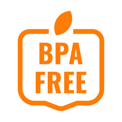 Bpa free badge, logo, icon. Flat vector illustration on white background.