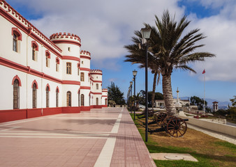Military Building in the Santa Lucia Park, La Serena, Coquimbo Region, Chile