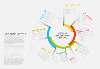 Circular Infographic with Information Segments