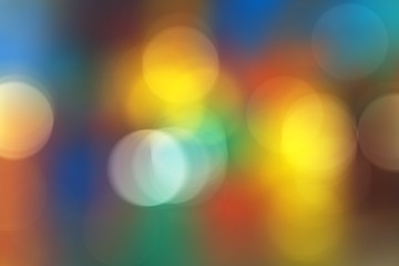 abstract colourful bokeh blur background