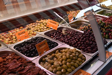 Colorful Olive in the market