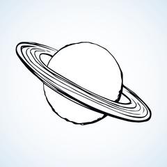 Saturn. Vector drawing