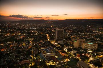 Fototapete - Panoramic view of Cebu city in sunset   Philippines.