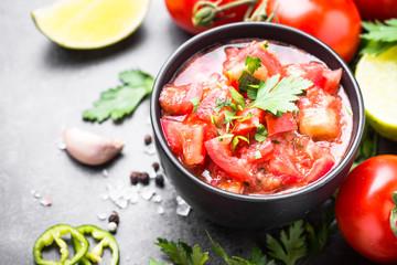 Traditional Latin American mexican salsa  sauce
