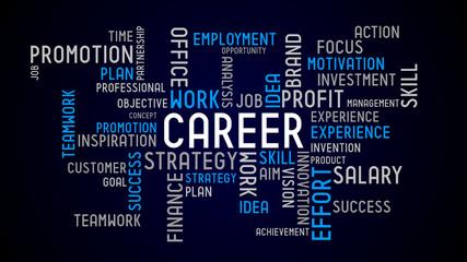 Career - typographic concept