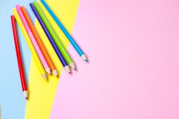 pop art colour pencils background