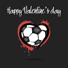 Soccer ball shaped as a heart