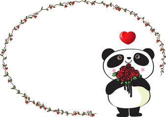 panda with card