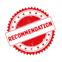 Recommendation red grunge stamp isolated