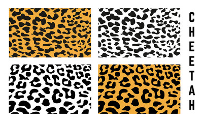 set of Cheetah Skin Pattern texture vector