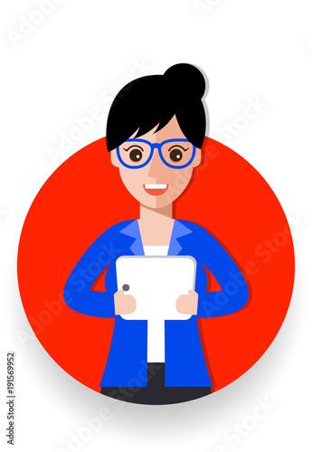 business woman cartoon icon vector illustration avatar