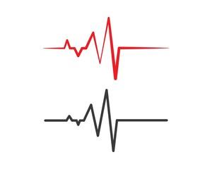 heart beat line vector