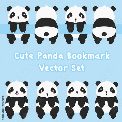 animal printable bookmark template cute panda bookmark template