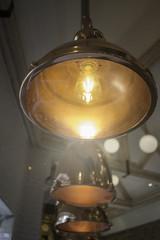 Elegant copper hanging light lamp