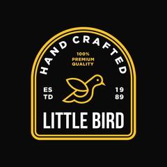 bird - vector logo/icon illustration label