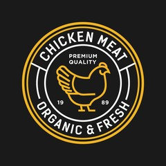chicken - vector logo/icon illustration mascot