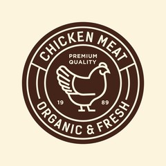 chicken - vector logo/icon illustration mascot