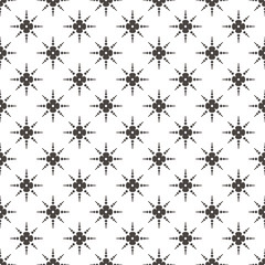Pattern flowers Abstract Geometric Wallpaper Vector illustration. background. black. on white background