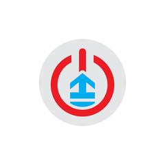 Stair Power Logo Icon Design