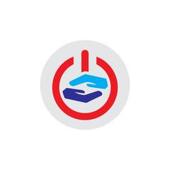 Care Power Logo Icon Design