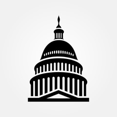 United States Capitol building icon. Vector illustration
