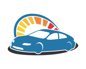 speedometer car con automotive vehicle dealer drive image vector icon