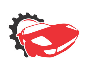 gear car racing automotive vehicle dealer drive image vector icon