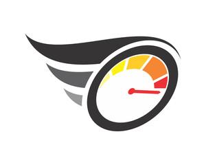 speedometer fast speed automotive image vector