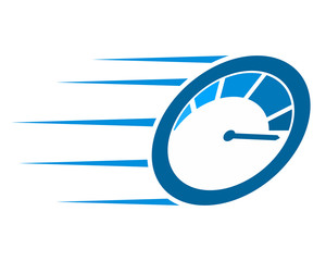 blue speedometer fast speed automotive image vector