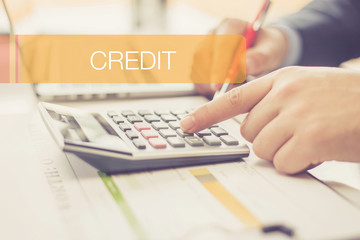 FINANCE CONCEPT: CREDIT
