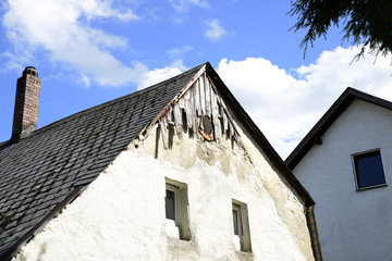 country house germany summer architecture architecture nature blue sky flowers building plaster photo