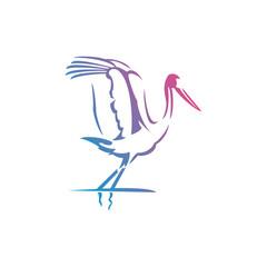 Flying flamingo logo