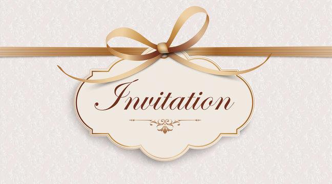 Invitation Noble Wide Ribbon Ornaments Header