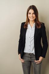Slender stylish young professional woman