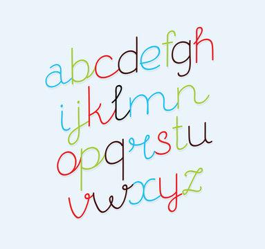 Vector handwritten font collection.
