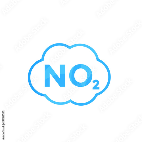 No2 Icon Nitrogen Dioxide Stock Image And Royalty Free Vector