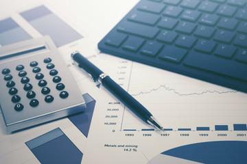 Financial accounting stock market graphs analysis