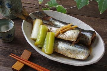 イワシの生姜煮 家庭料理