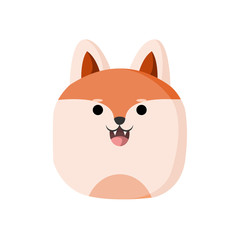 Cute Wolf Animal Head Illustration