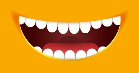 Smile constructor cartoon smiley emoticon emoji yellow mouth smiles vector design