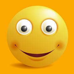 Smile constructor cartoon smiley emoticon emoji yellow smiles vector icon flat design