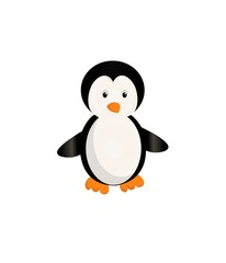 penguin cartoon on a white background