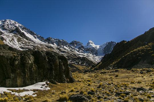 Condoriri Peak in Andes, Bolivia