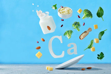 Flying foods rich in calcium