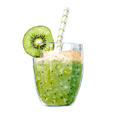 Watercolor smoothie vector illustration